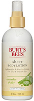 Sheer Body Lotion Cucumber & Aloe 8 oz. Burt's Bees