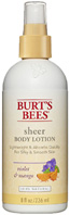 Sheer Body Lotion Violet & Mango 8 oz. Burt's Bees