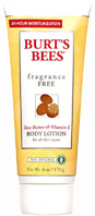 Fragrance Free Shea Butter & Vitamin E Body Lotion 6 oz. Burt's Bees