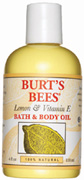 Lemon & Vitamin E Body & Bath Oil 4 oz. Burt's Bees