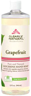 Glycerine Hand Soap Grapefruit 32 oz, Clearly Natural