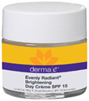 Evenly Radiant Brightening Day Creme SPF15l 2 oz. Derma E