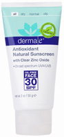 Face Lotion Antioxidant Natural Sunscreen SPF 30 Oil-Free