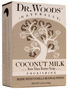 Bar Soap Coconut Milk Raw Shea Butter 5.25 oz. Dr. Woods Soaps