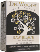 Bar Soap Raw Black Shea Butter 5.25 oz. Dr. Woods Soaps