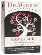 Facial Cleansing Bar Soap Raw Black Nourishing 5.25 oz. Dr. Woods Soaps