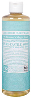 Castile Liquid Soap Baby Mild Unscented 16 oz. Dr Bronner