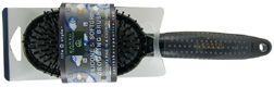 Silicone Soft Grip Grooming Brush BLACK Earth Therapeutics