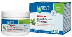 Pain Relieving Ointment 2.5 oz. Earth's Care