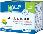 Muscle & Joint Rub 2.5 oz. Earth's Care