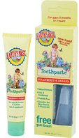 Toddler Toothpaste Strawberry & Banana 1.6 oz. Earths Best