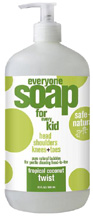 Everyone Kids Liquid Soap Tropical Coconut Twist 32 oz. EO Products