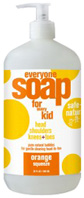 Everyone Kids Soap Orange Squeeze 32 oz. EO Products