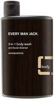 2-in-1 Body Wash & Face Cleanser Sandalwood 13.5 oz. Every Man Jack