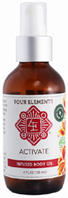 Infused Body Oil Active 4 oz. Four Elements Herbals