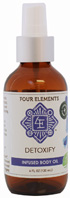 Infused Body Oil Detoxify 4 oz. Four Elements Herbals