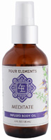 Infused Body Oil Meditate 4 oz. Four Elements Herbals