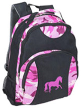 Camo Backpack / Galloping Horse PINK AWST