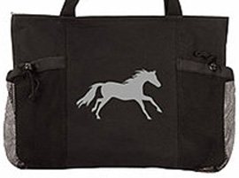 Convenience Tote Black/Lila Galloping Horse AWST