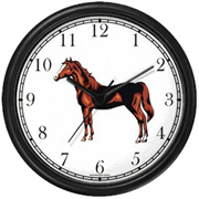Chestnut w/ Blaze Stallion or Colt Clock WatchBuddy Watches