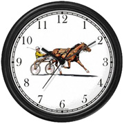 Harness Horse/ Standard Horse w/ Driver Racing Clock WatchBuddy Watches