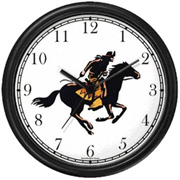 Horse & Rider of the Pony Express Clock WatchBuddy Watches