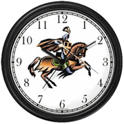 Polo Pony & Rider Chasing Clock WatchBuddy Watches