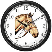 Palomino Horse in Bridle Clock WatchBuddy Watches