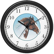Bay Pinto Horse Clock WatchBuddy Watches