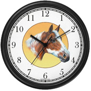 Chestnut Pinto Horse Clock WatchBuddy Watches