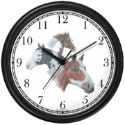 Paint, Palomino, Appaloosa & Indians Clock WatchBuddy Watches