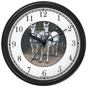 Horse Team Two White Horses Clock WatchBuddy Watches