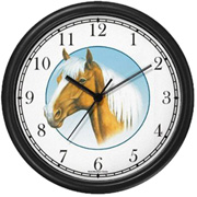 Palomino JP Horse in Circle Clock WatchBuddy Watches