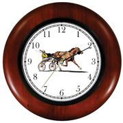 Harness Horse w/ Driver Racing Clock WatchBuddy Watches