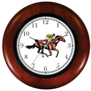 Thoroughbred Racehorse & Jockey Clock WatchBuddy Watches