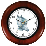 White Mare & Foal Clock WatchBuddy Watches
