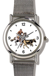 Horse & Rider Chasing Calf Watch WatchBuddy Watches