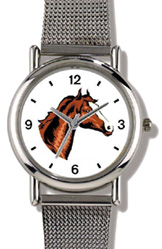 Bay or Brown Colored Horse w/ Blaze WatchBuddy Watches