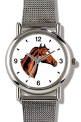 Bay or Brown Colored Horse w/ Star WatchBuddy Watches