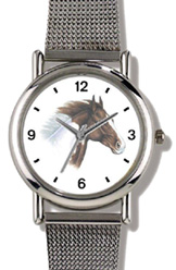 Brown & White Paint / Pinto JP Horse WatchBuddy Watches