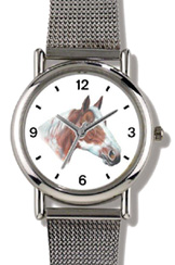 Chestnut & White Paint / Pinto JP Horse WatchBuddy Watches