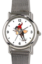 Cowboy on Bucking Bronco WatchBuddy Watches