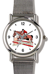 Steeplechase Horse & Rider Taking Jump WatchBuddy Watches