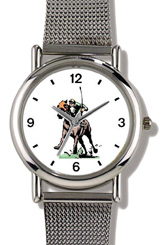 Throughbred Racehorse & Jockey Driving Stretch WatchBuddy Watches