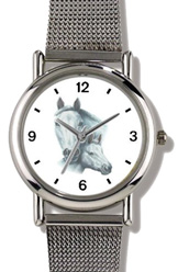 White Mare & Foal JP Horse WatchBuddy Watches