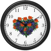 Red & Violet Flower Bouquet Clock WatchBuddy Watches