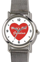 Red Heart World's Best Grandma Watch WatchBuddy Watches