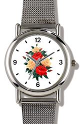 Red & Peach Rose Bouquet Watch WatchBuddy Watches