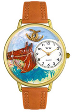 Horse Head Watch / Gold Whimsical Watches