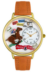 Horse Racing Watch / Gold Whimsical Watches